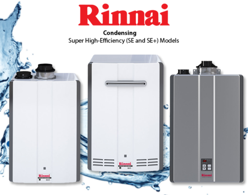 Rinnai Gas Tankless Water Heaters Replacement and Installation Broward, Miami-Dade and Palm Beach County